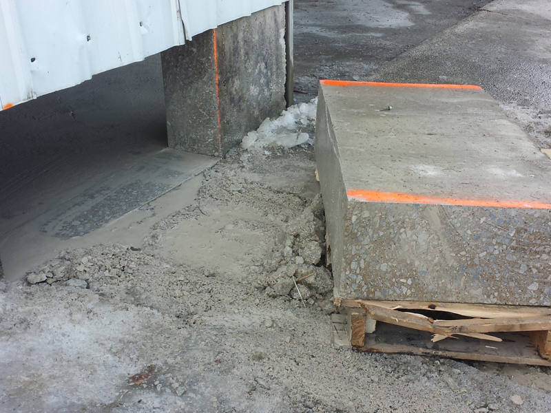 With Concrete Saw Cutting Into Walls : Wall sawing northern indiana concrete drilling and